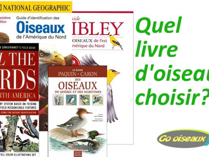 Guides d'identification d'oiseaux suggérés pour le Québec