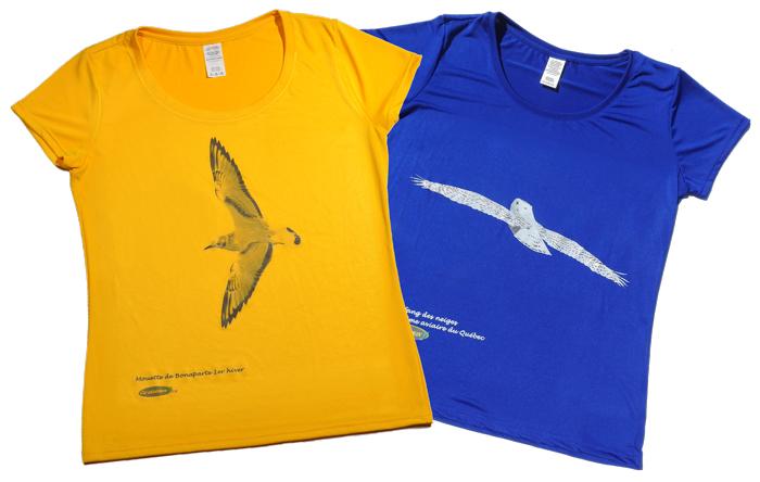 Chandails d'oiseaux jaune et bleu